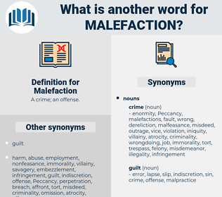 Malefaction, synonym Malefaction, another word for Malefaction, words like Malefaction, thesaurus Malefaction