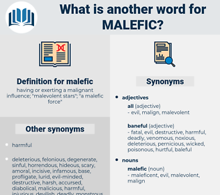 malefic, synonym malefic, another word for malefic, words like malefic, thesaurus malefic