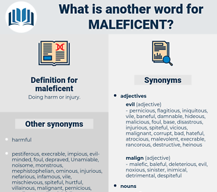 maleficent, synonym maleficent, another word for maleficent, words like maleficent, thesaurus maleficent