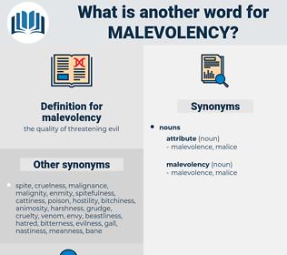 malevolency, synonym malevolency, another word for malevolency, words like malevolency, thesaurus malevolency