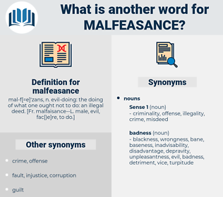 malfeasance, synonym malfeasance, another word for malfeasance, words like malfeasance, thesaurus malfeasance