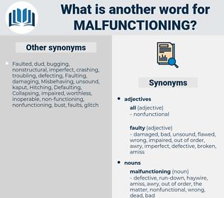 malfunctioning, synonym malfunctioning, another word for malfunctioning, words like malfunctioning, thesaurus malfunctioning