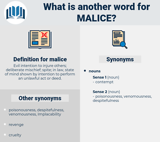 malice, synonym malice, another word for malice, words like malice, thesaurus malice