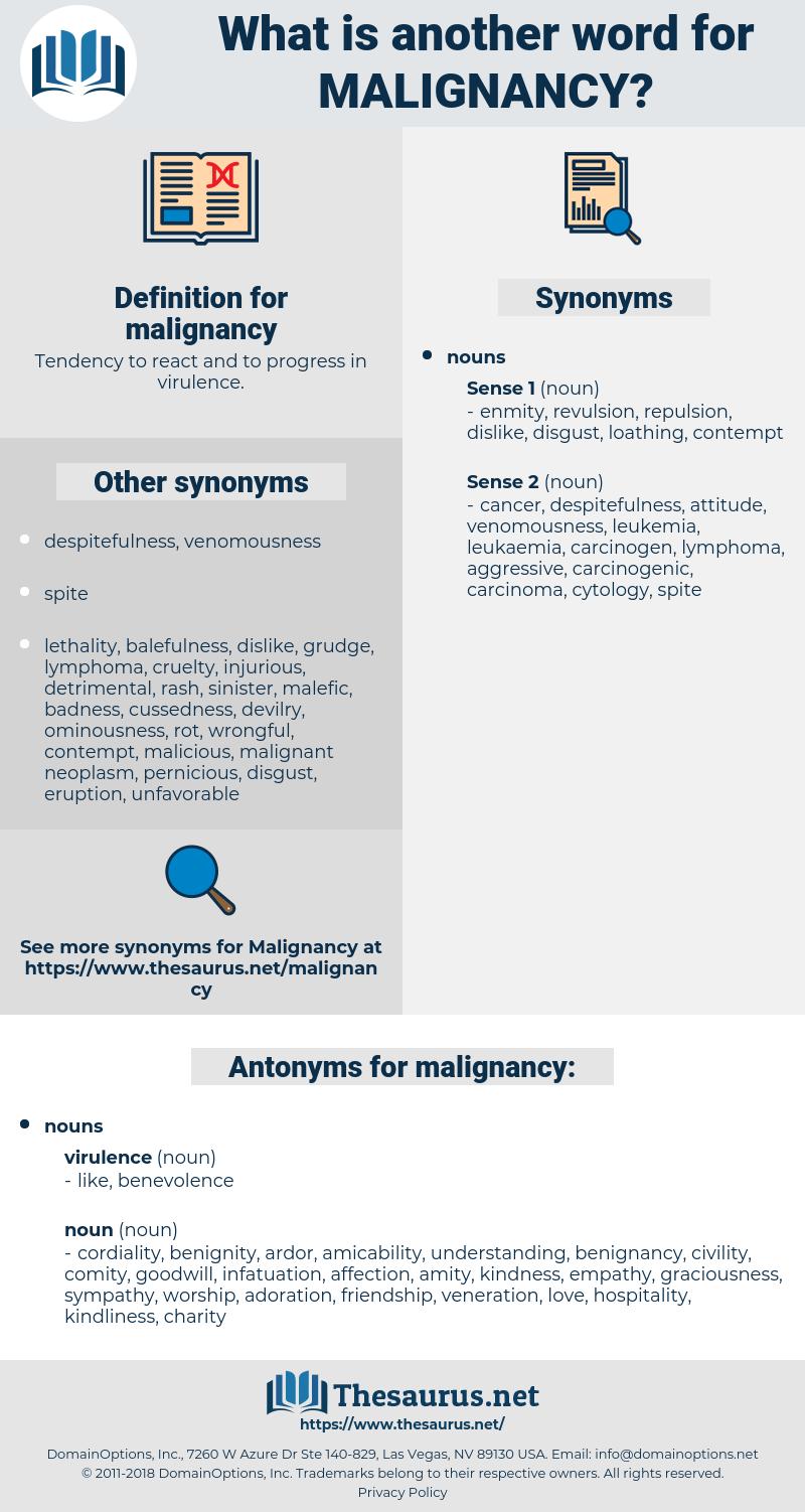 malignancy, synonym malignancy, another word for malignancy, words like malignancy, thesaurus malignancy