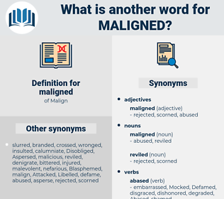 maligned, synonym maligned, another word for maligned, words like maligned, thesaurus maligned