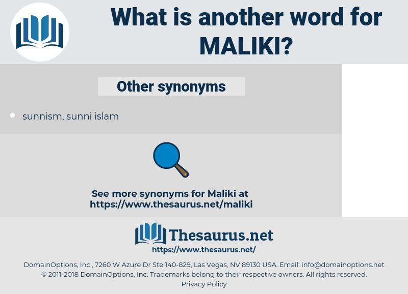 maliki, synonym maliki, another word for maliki, words like maliki, thesaurus maliki