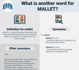 mallet, synonym mallet, another word for mallet, words like mallet, thesaurus mallet