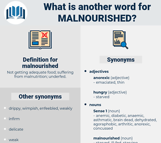 malnourished, synonym malnourished, another word for malnourished, words like malnourished, thesaurus malnourished