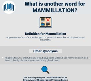 Mammillation, synonym Mammillation, another word for Mammillation, words like Mammillation, thesaurus Mammillation