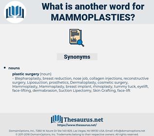 Mammoplasties, synonym Mammoplasties, another word for Mammoplasties, words like Mammoplasties, thesaurus Mammoplasties
