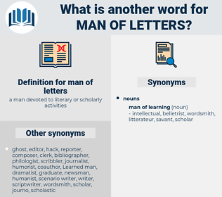 man of letters, synonym man of letters, another word for man of letters, words like man of letters, thesaurus man of letters