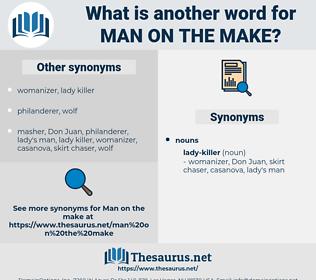 man on the make, synonym man on the make, another word for man on the make, words like man on the make, thesaurus man on the make