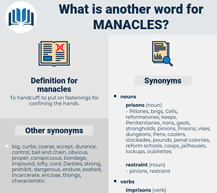 manacles, synonym manacles, another word for manacles, words like manacles, thesaurus manacles