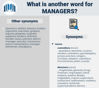 managers, synonym managers, another word for managers, words like managers, thesaurus managers