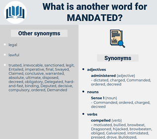 mandated, synonym mandated, another word for mandated, words like mandated, thesaurus mandated