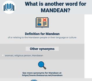 Mandean, synonym Mandean, another word for Mandean, words like Mandean, thesaurus Mandean