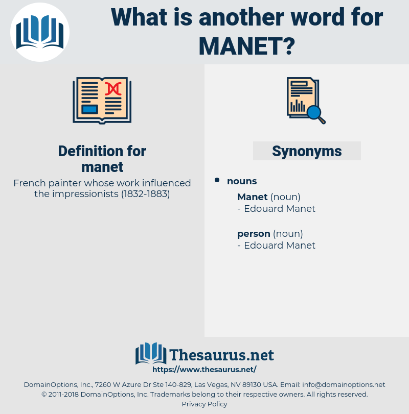 manet, synonym manet, another word for manet, words like manet, thesaurus manet