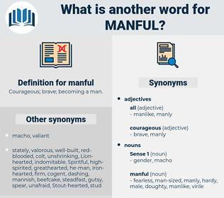 manful, synonym manful, another word for manful, words like manful, thesaurus manful