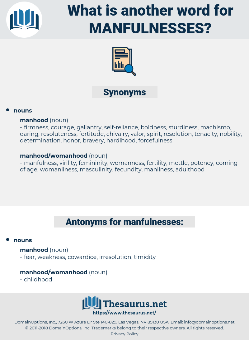 manfulnesses, synonym manfulnesses, another word for manfulnesses, words like manfulnesses, thesaurus manfulnesses