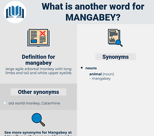 mangabey, synonym mangabey, another word for mangabey, words like mangabey, thesaurus mangabey