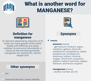 manganese, synonym manganese, another word for manganese, words like manganese, thesaurus manganese