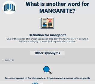 manganite, synonym manganite, another word for manganite, words like manganite, thesaurus manganite