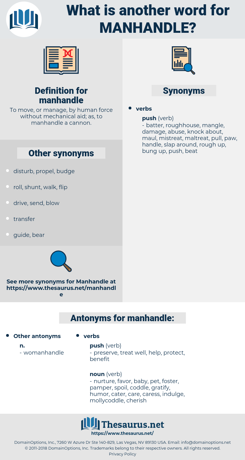 manhandle, synonym manhandle, another word for manhandle, words like manhandle, thesaurus manhandle