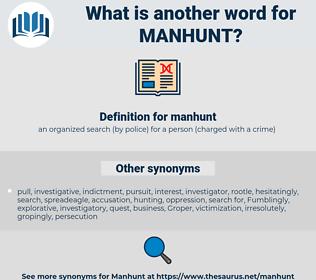 manhunt, synonym manhunt, another word for manhunt, words like manhunt, thesaurus manhunt