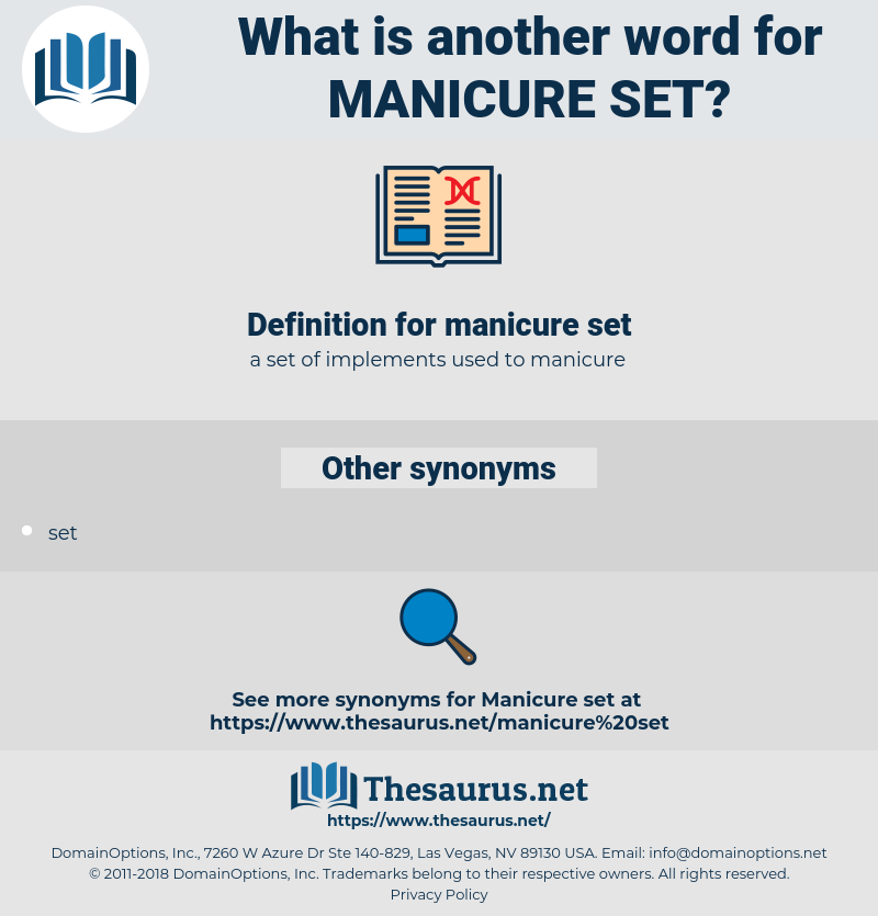 manicure set, synonym manicure set, another word for manicure set, words like manicure set, thesaurus manicure set