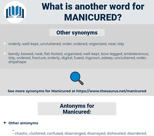 Manicured, synonym Manicured, another word for Manicured, words like Manicured, thesaurus Manicured