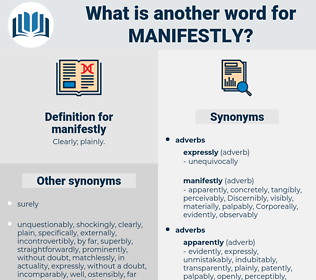 manifestly, synonym manifestly, another word for manifestly, words like manifestly, thesaurus manifestly
