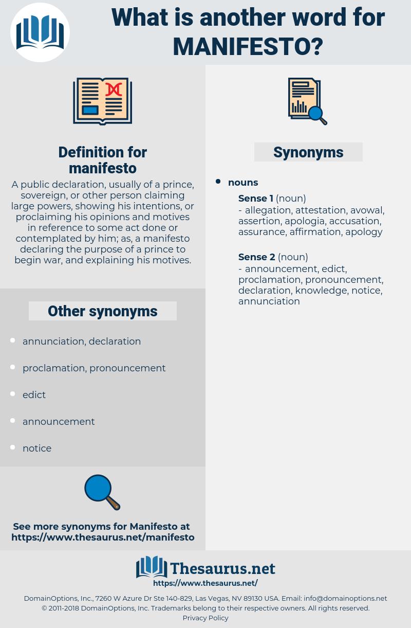 manifesto, synonym manifesto, another word for manifesto, words like manifesto, thesaurus manifesto