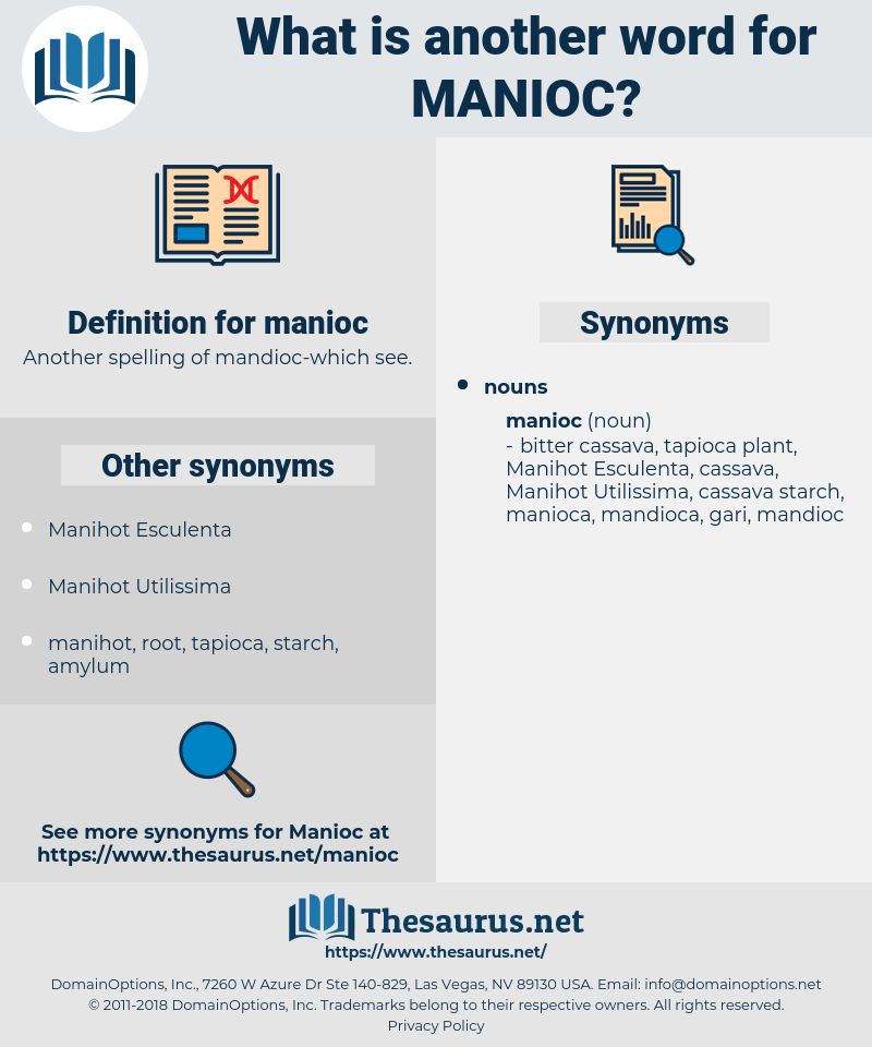 manioc, synonym manioc, another word for manioc, words like manioc, thesaurus manioc