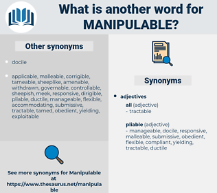 manipulable, synonym manipulable, another word for manipulable, words like manipulable, thesaurus manipulable