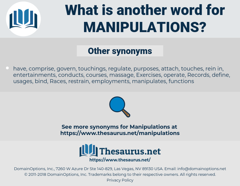 manipulations, synonym manipulations, another word for manipulations, words like manipulations, thesaurus manipulations