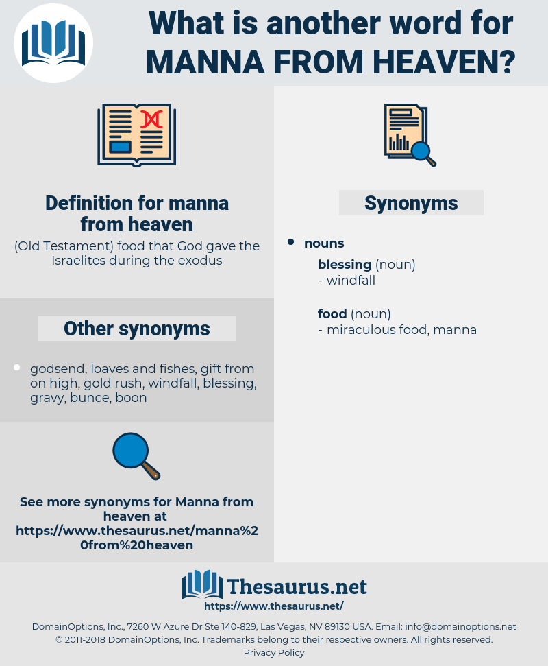 manna from heaven, synonym manna from heaven, another word for manna from heaven, words like manna from heaven, thesaurus manna from heaven