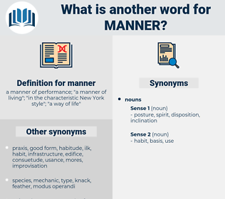 manner, synonym manner, another word for manner, words like manner, thesaurus manner
