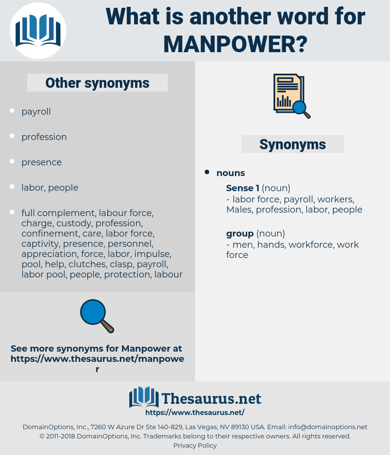 manpower, synonym manpower, another word for manpower, words like manpower, thesaurus manpower