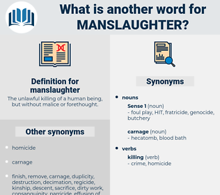 manslaughter, synonym manslaughter, another word for manslaughter, words like manslaughter, thesaurus manslaughter