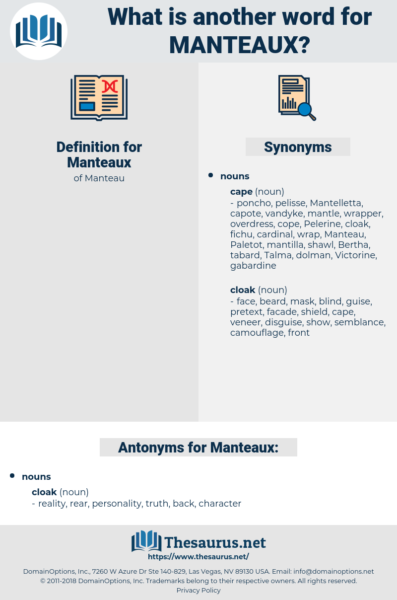 Manteaux, synonym Manteaux, another word for Manteaux, words like Manteaux, thesaurus Manteaux