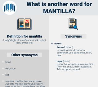 mantilla, synonym mantilla, another word for mantilla, words like mantilla, thesaurus mantilla