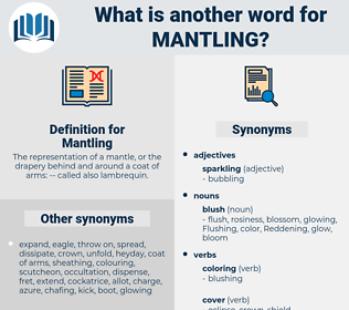 Mantling, synonym Mantling, another word for Mantling, words like Mantling, thesaurus Mantling