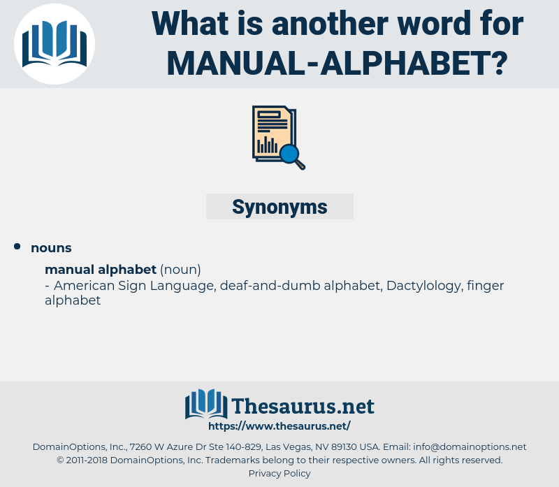 manual alphabet, synonym manual alphabet, another word for manual alphabet, words like manual alphabet, thesaurus manual alphabet