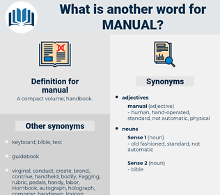 manual, synonym manual, another word for manual, words like manual, thesaurus manual