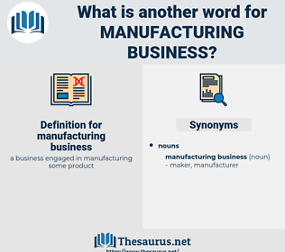 manufacturing business, synonym manufacturing business, another word for manufacturing business, words like manufacturing business, thesaurus manufacturing business