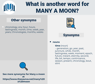 many a moon, synonym many a moon, another word for many a moon, words like many a moon, thesaurus many a moon