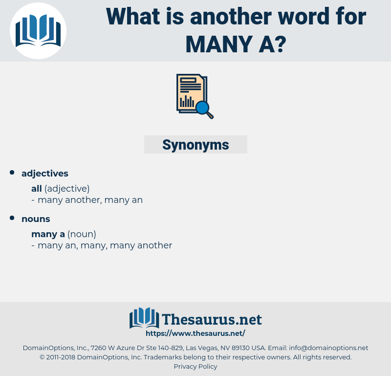 many a, synonym many a, another word for many a, words like many a, thesaurus many a