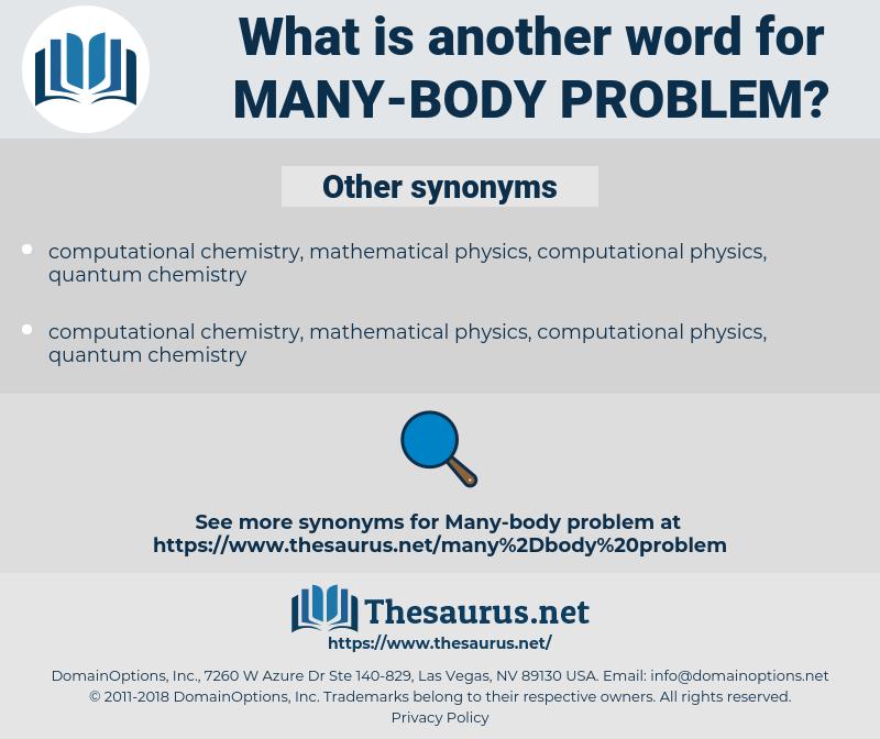 many-body problem, synonym many-body problem, another word for many-body problem, words like many-body problem, thesaurus many-body problem
