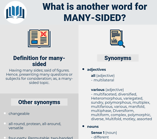 many-sided, synonym many-sided, another word for many-sided, words like many-sided, thesaurus many-sided