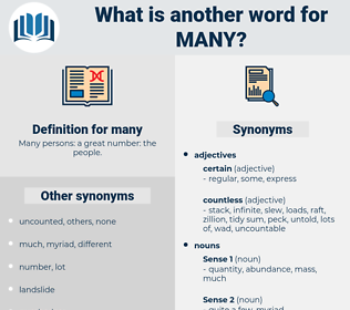 many, synonym many, another word for many, words like many, thesaurus many